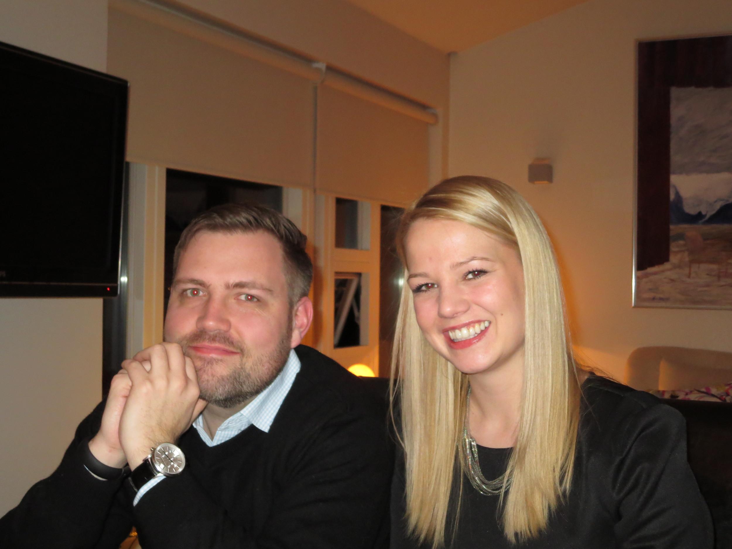Ásgeir Orri, Ditta´s son with his girlfriend, Hrefna