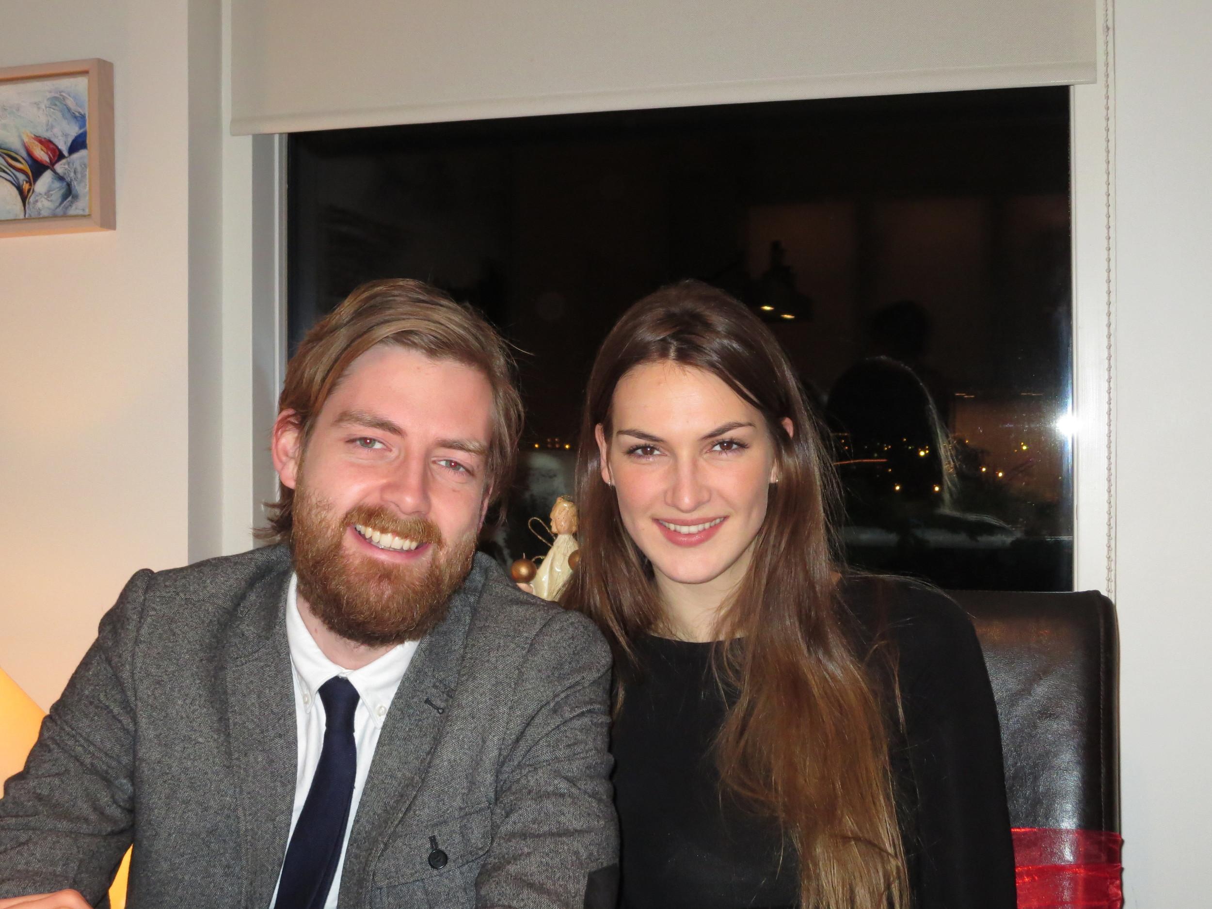Rúnar Ingi, Ditta´s son, with his girlfriend, Soffia
