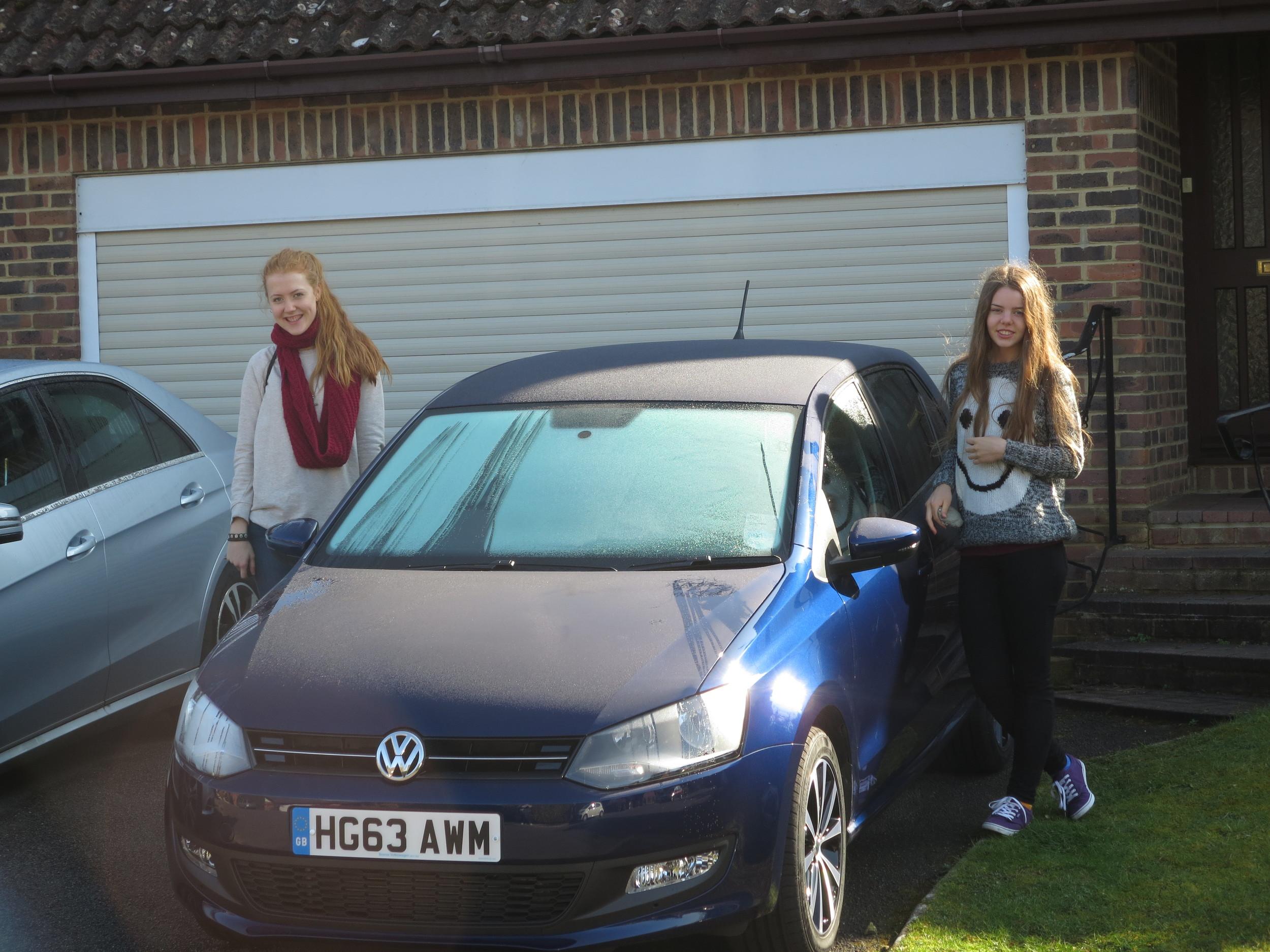 Alexandra and Dora going down town shopping - their first drive together as Alexandra has a brand new drivers licence