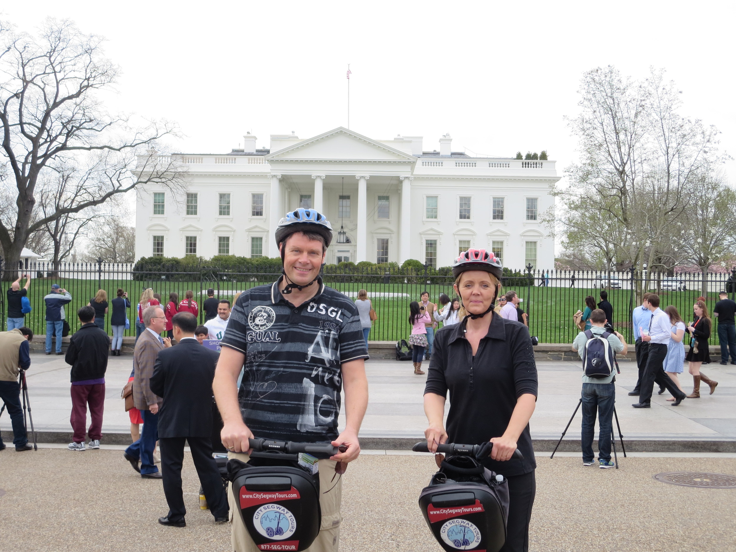 On Segways in front of The White House