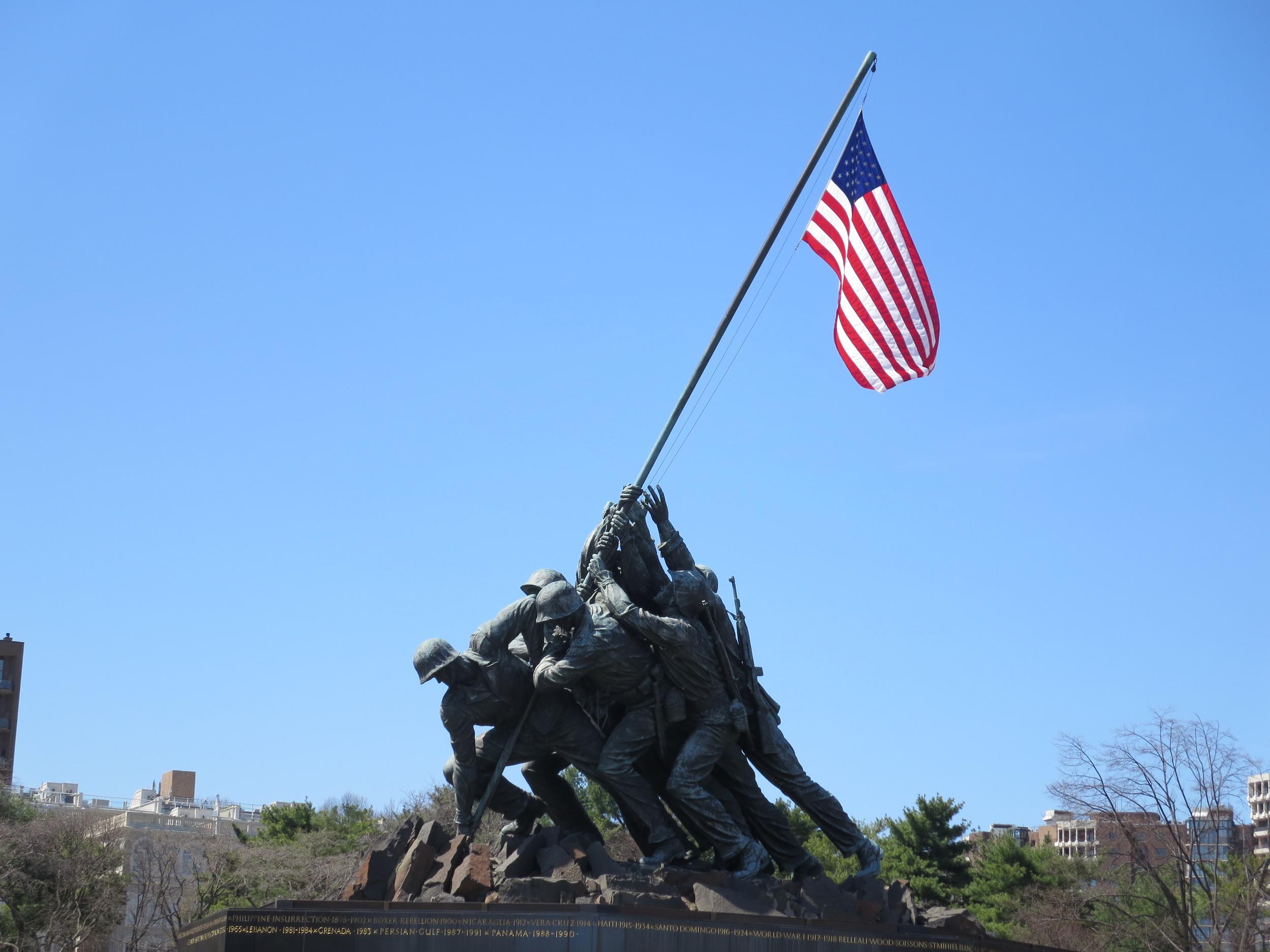 Iwo Jima Memorial - much bigger than we had imagined