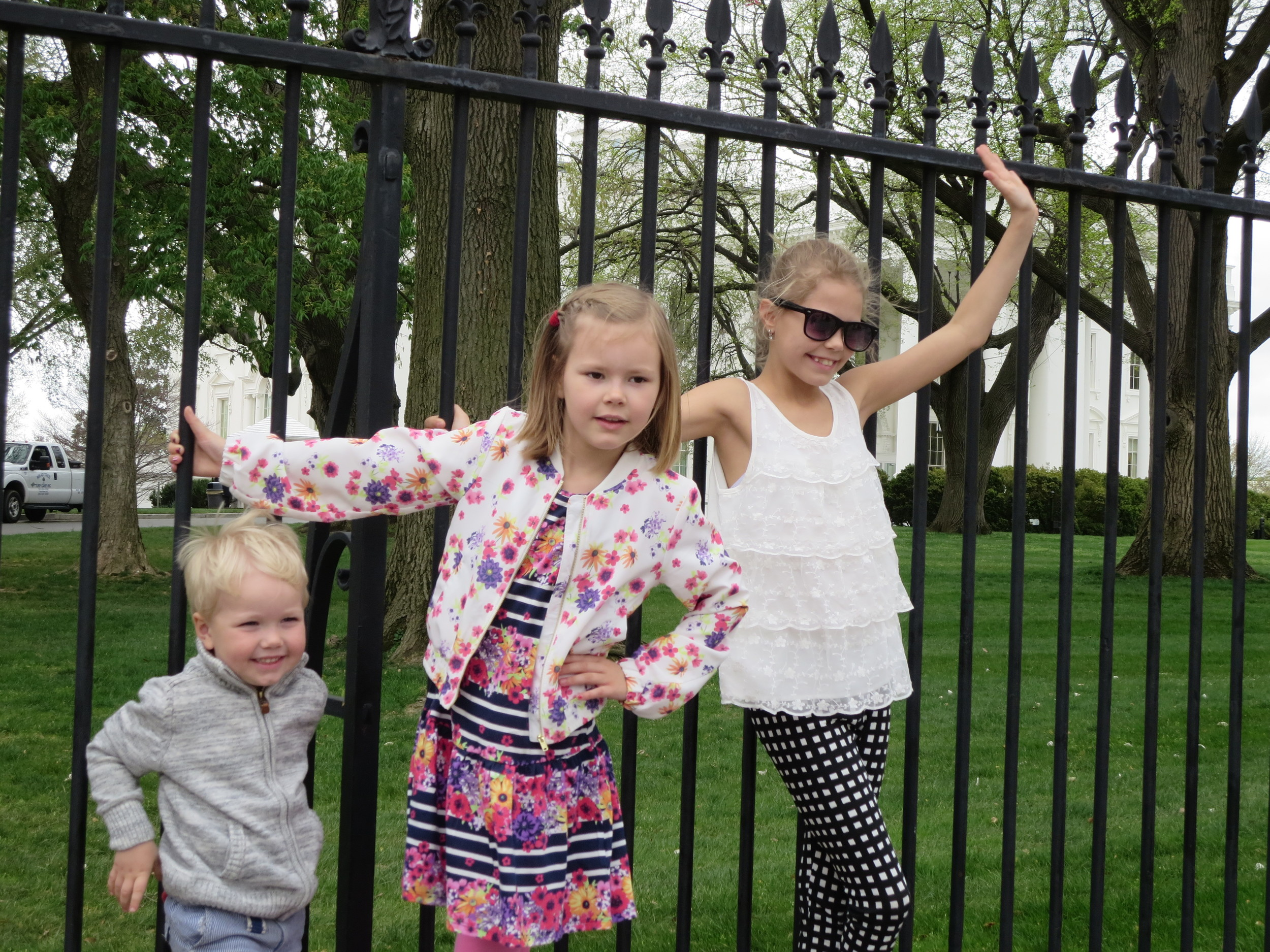 "The ""Providence kids"" hanging on the fence of The White House"
