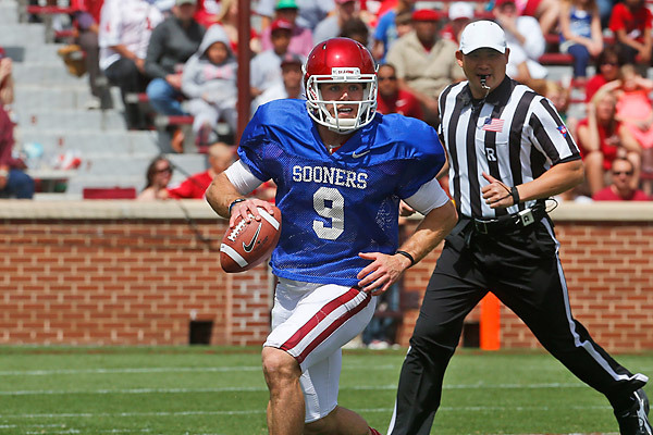 It's official: QB1. (Photo courtesy:  SoonerSports.com )