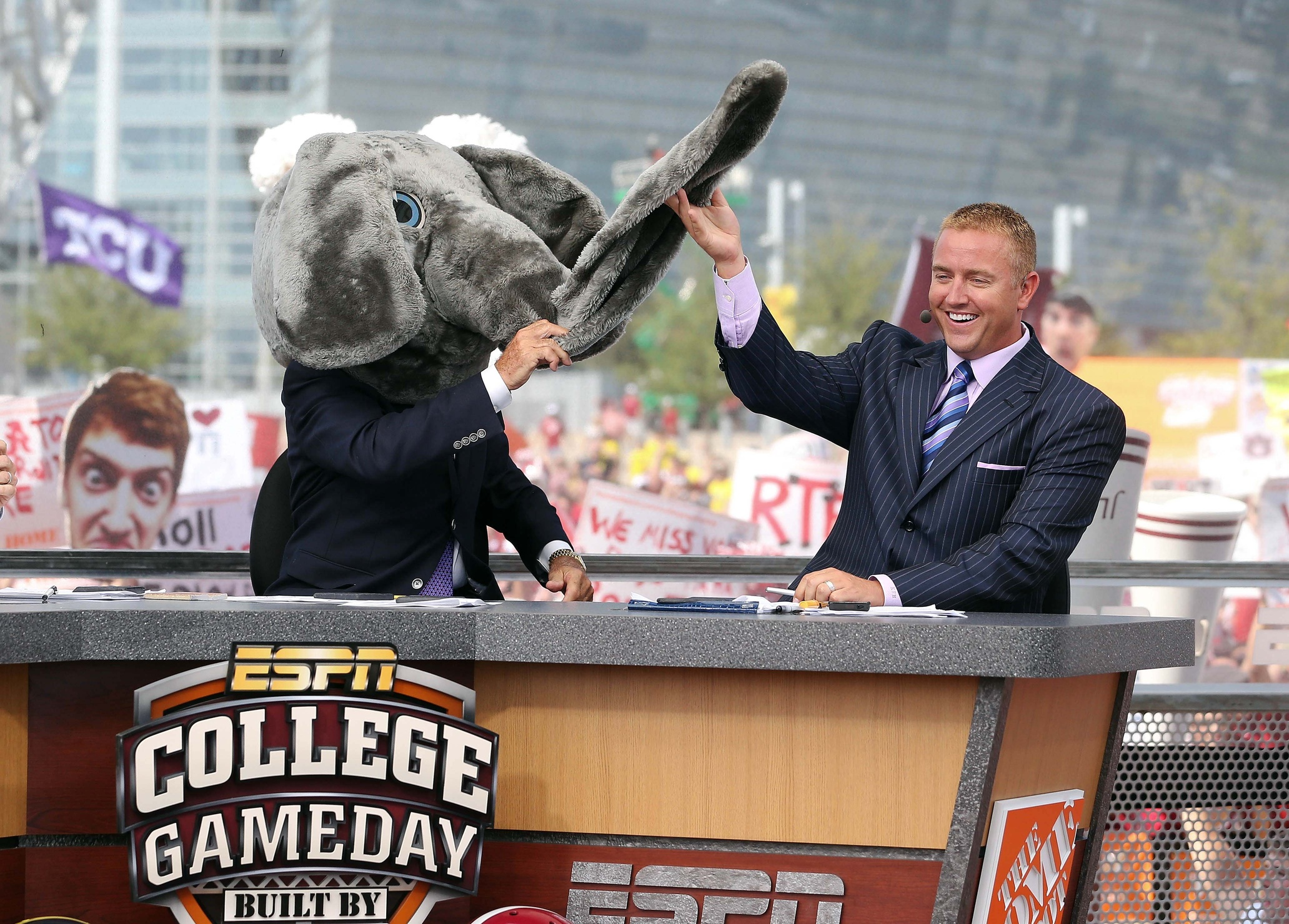 Unleashing elephants on fans is just one way ESPN is keeping fans at home. (Image courtesy: USA Today Sports)