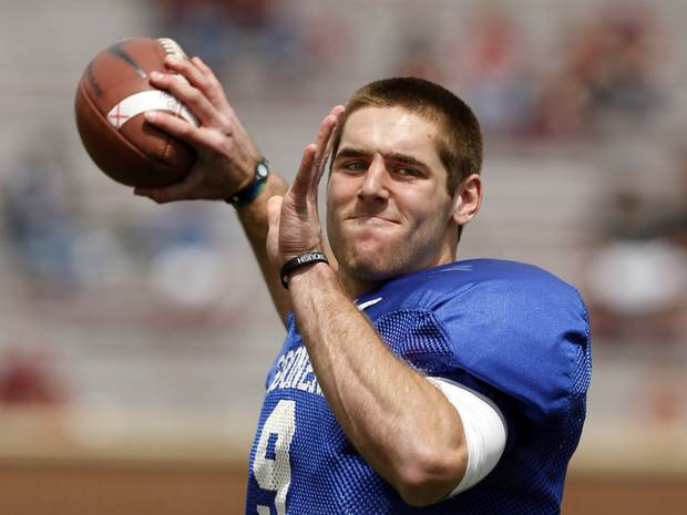 No looking over his shoulder for Trevor Knight this year. (Image courtesy: NewsOK.com)