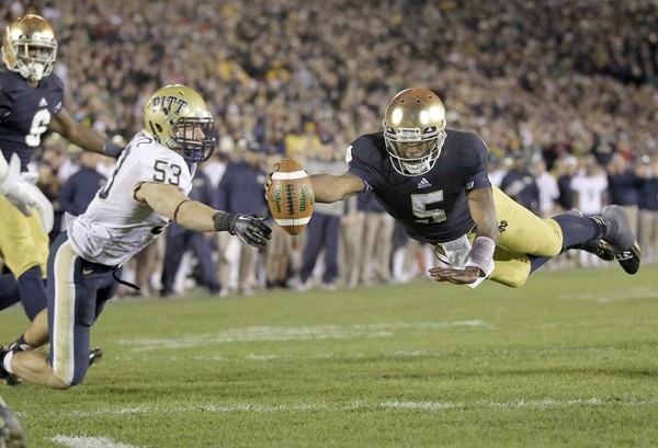 Everett Golson's return to South Bend is at least one reason for optimism at Notre Dame. (Image courtesy: USA Today Sports)