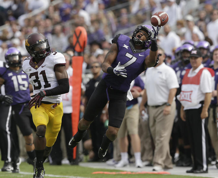 Don't sleep on TCU receivers such as Kolby Listenbee. (Image courtesy: tcu360.com)