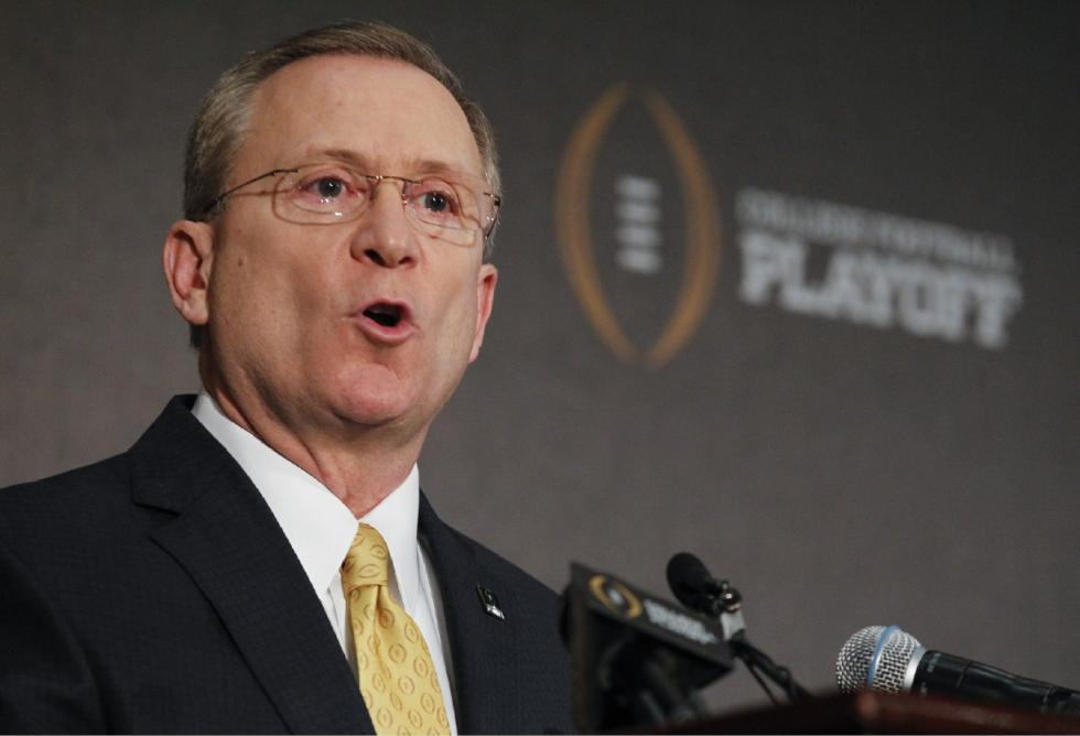Jeff Long tries to explain how the selection committee wasn't making it up on the fly. (Image courtesy: recorder.com)