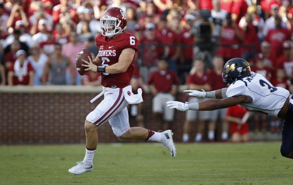 Not too shabby of a debut for Oklahoma's new quarterback. (Image: dallasnews.com)