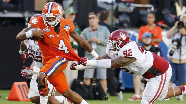 There was a lot of this Thursday night in the Orange Bowl. (Image: College Football Talk)