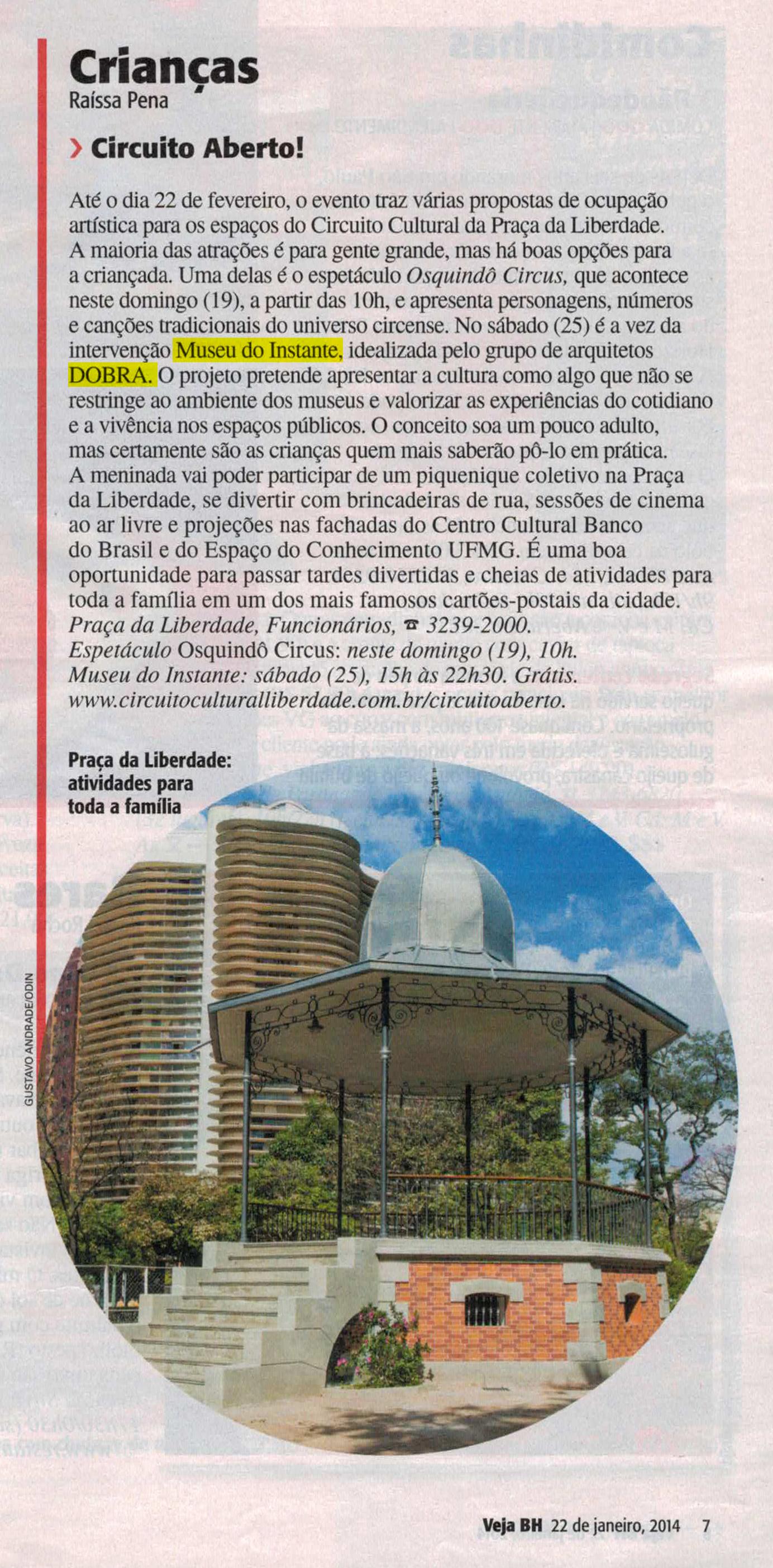Revista Veja BH, Belo Horizonte, 22 de janeiro de 2014
