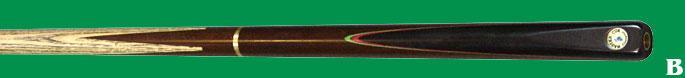 CP 1 A & B  CHAMPION keu 3/4 esenhout - rozenhout butt in machinespits - splice vooraan met of zonder kleur.  €99.00.