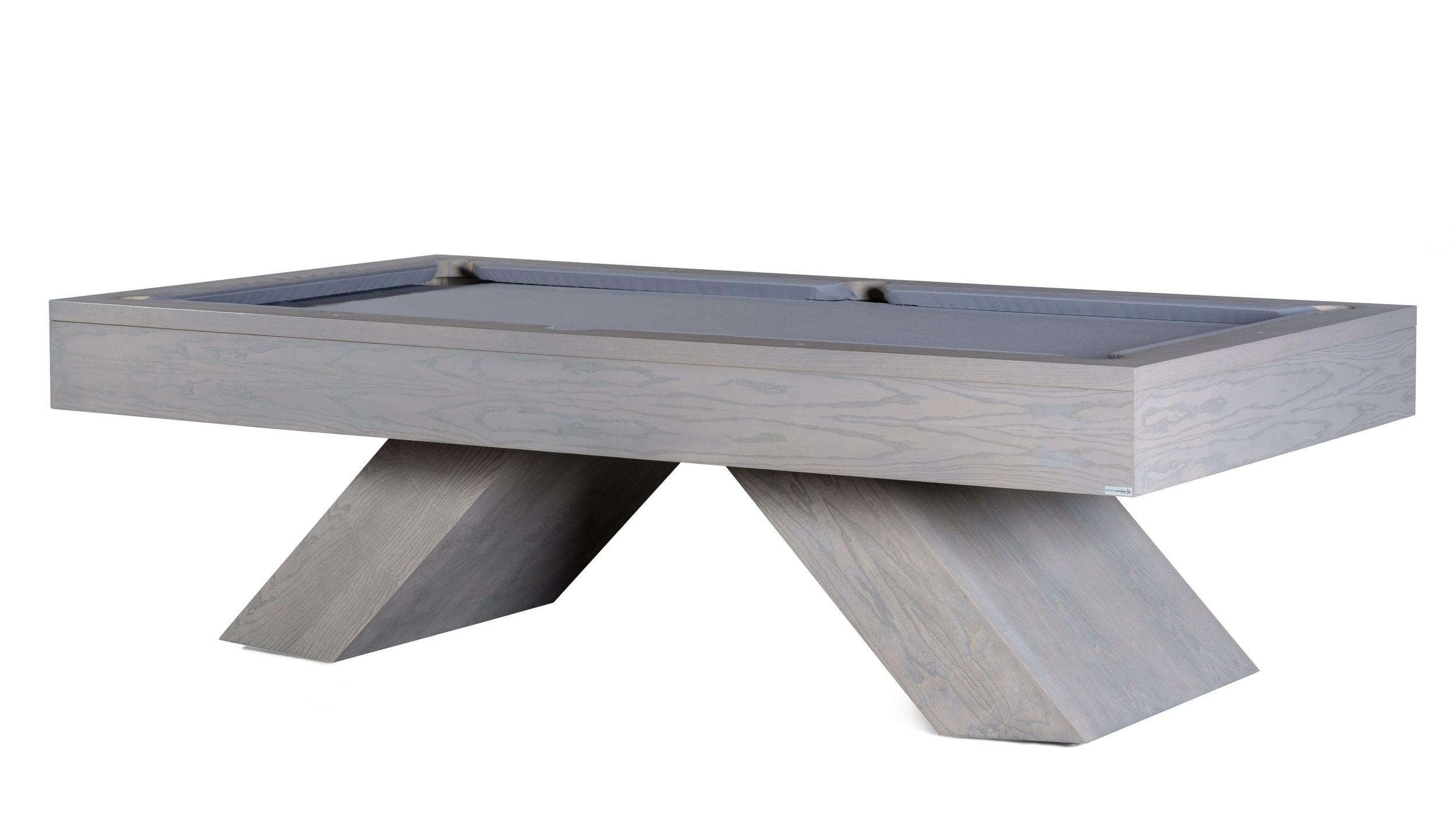 Model K gewaagd en mooi, metaal kader met 2 U balken - leisteen 3dlg 30mm - massief hout. max 8ft. Prijs 4995€ voor 7&8ft + levering & plaatsing 450€. Simonis laken +225€. Exclusief toebehoren