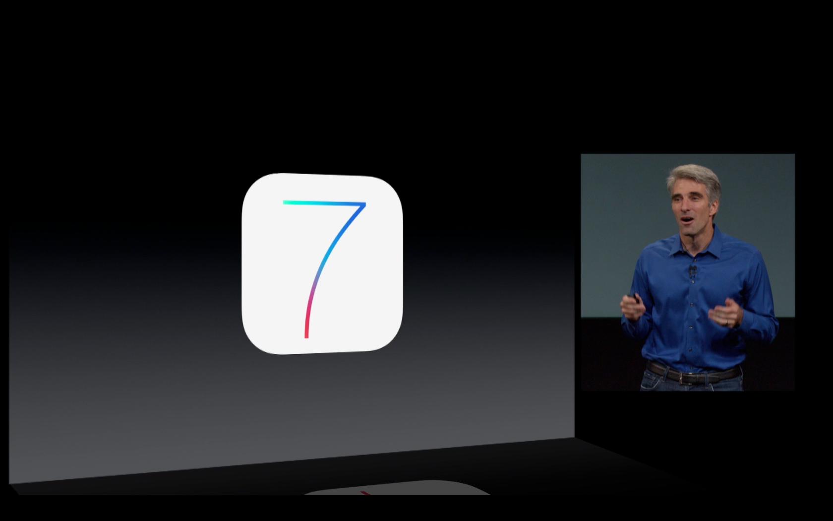 Craig Federighi présentant iOS7
