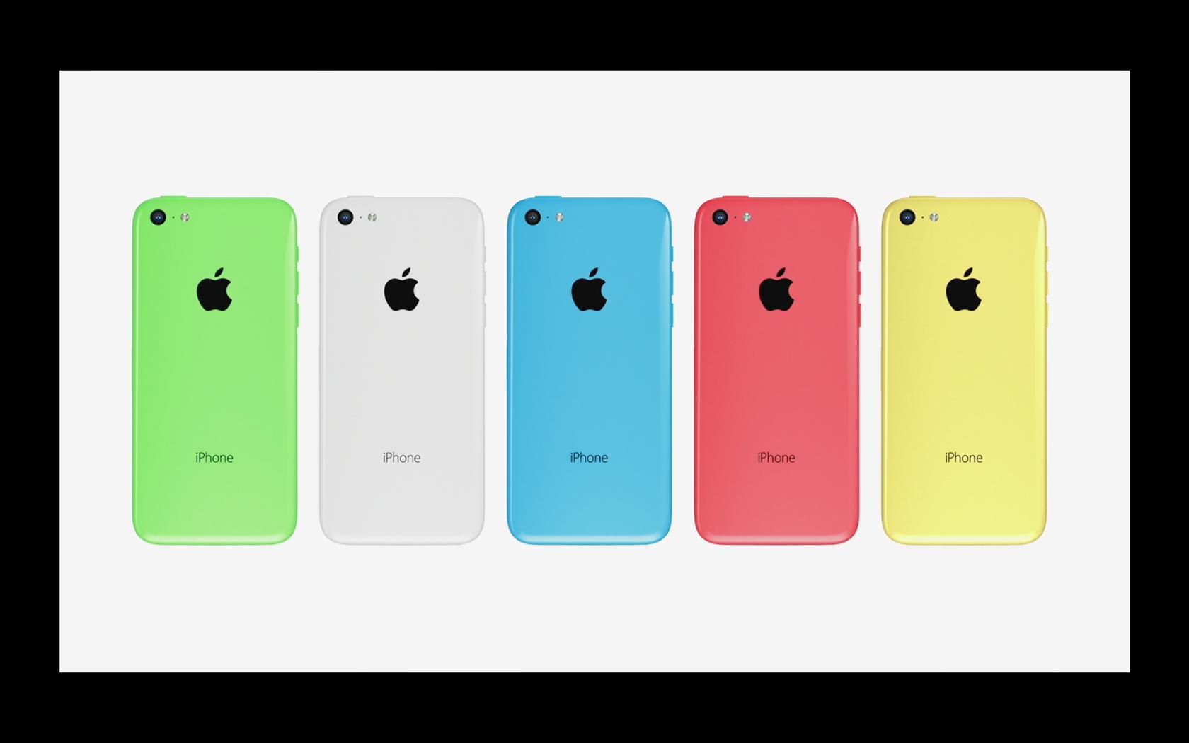 L'iPhone 5c, et ses cinq couleurs disponibles