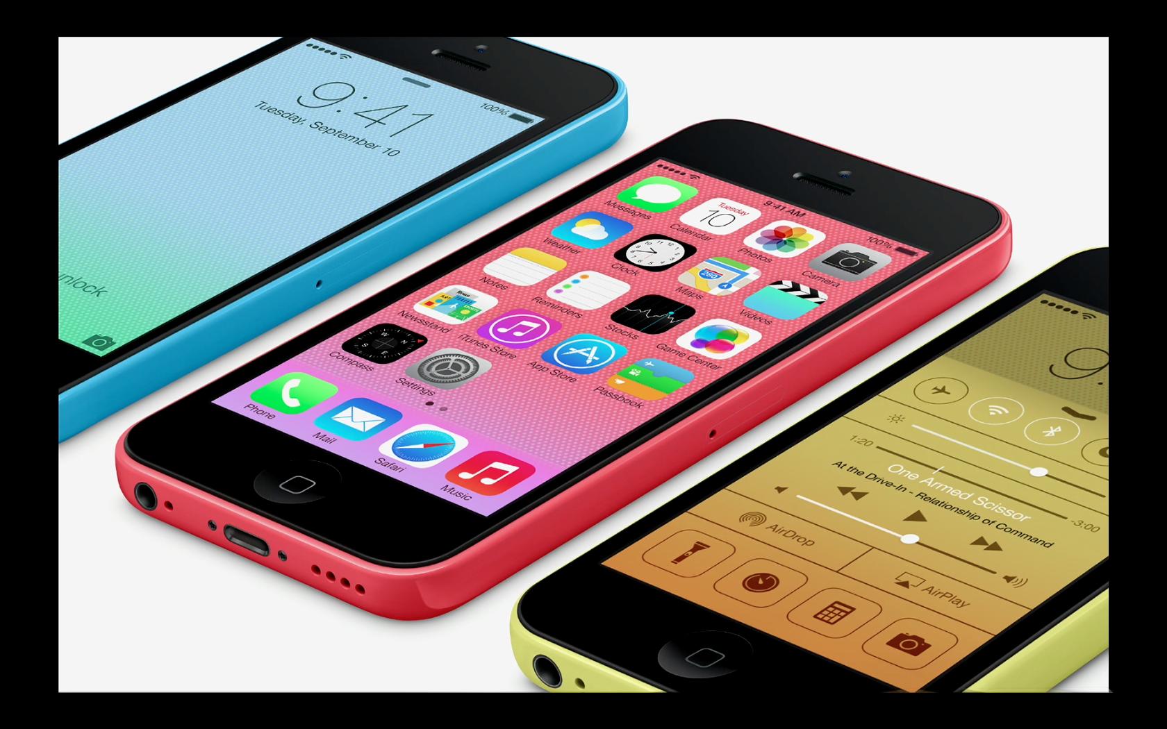 L'iphone 5c, en couleur!