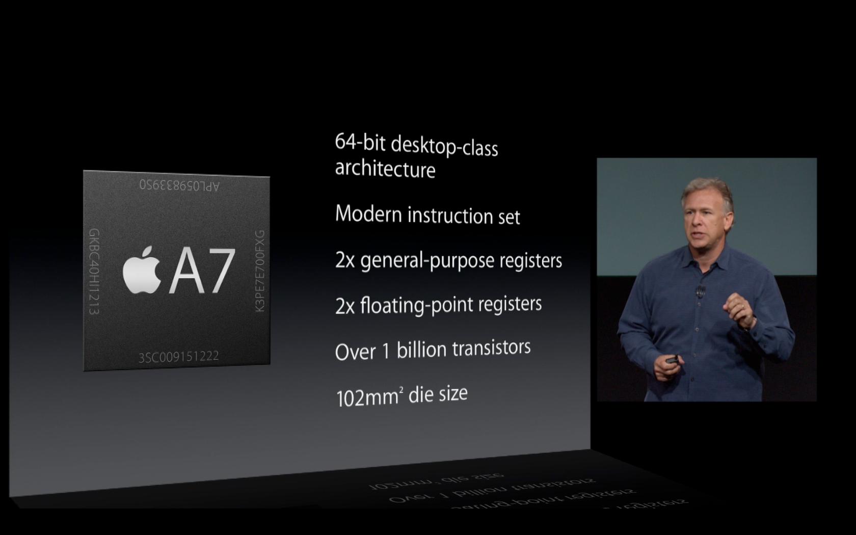 Le processeur A7 64bits de l'iPhone 5s