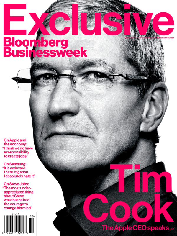 Tim Cook's Freshman Year: The Apple CEO Speaks  - Credit image: BloombergBusinessweek