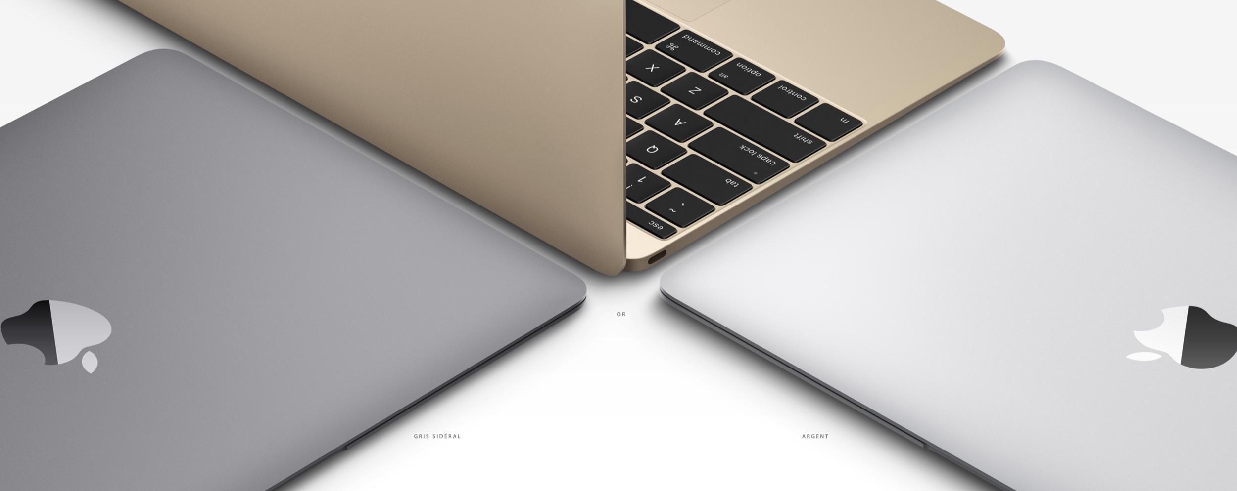 Trois couleurs disponibles, comme les iPad et les iPhone.