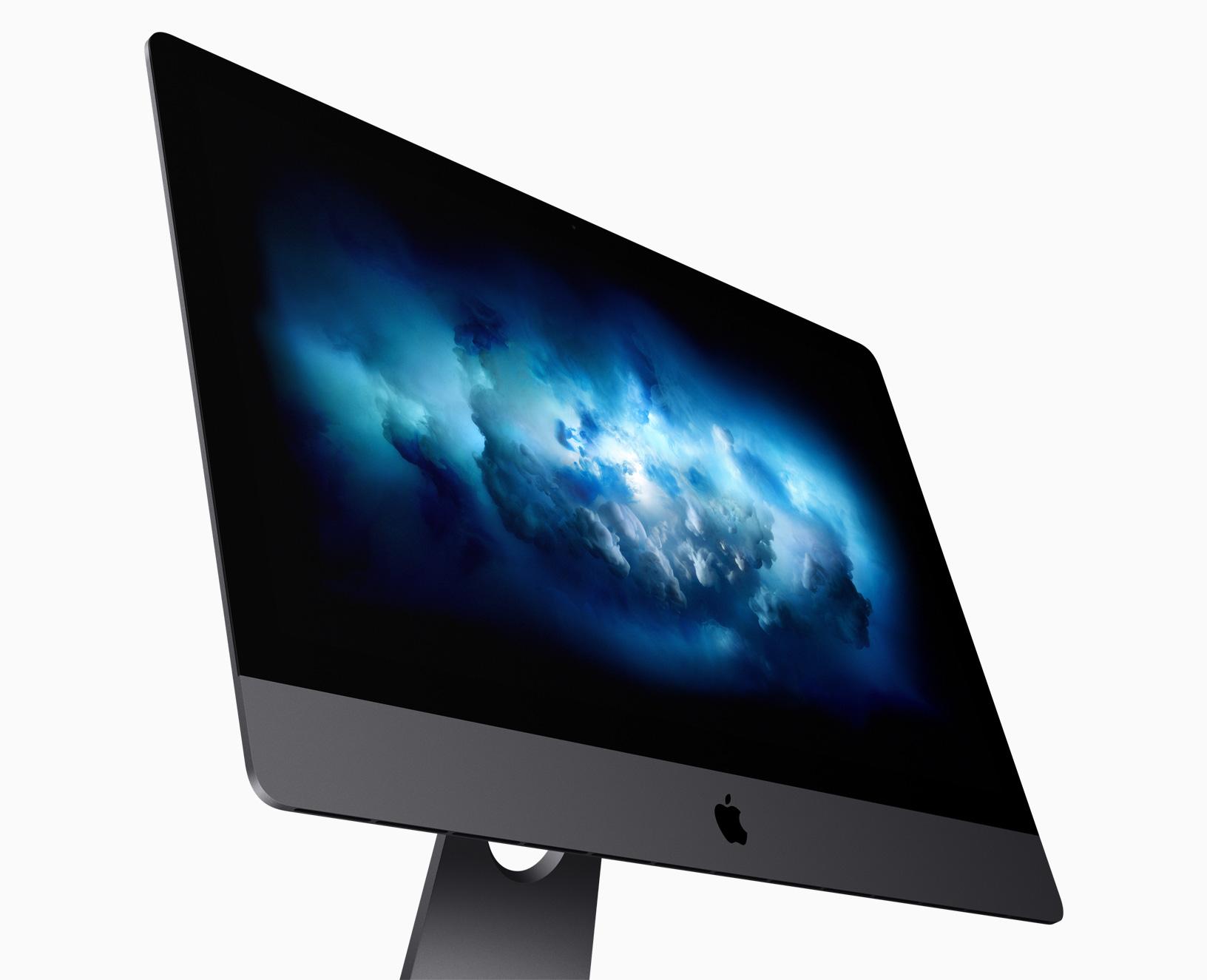 Mesurant 5 mm d'épaisseur, l'iMac Pro arbore une sublime nouvelle finition gris sidéral et est livré avec les accessoires assortis. «L'iMac Pro associe le splendide design de l'iMac et l'architecture professionnelle la plus puissante que nous ayons jamais conçue », explique John Ternus, vice president of Hardware Engineering d'Apple.