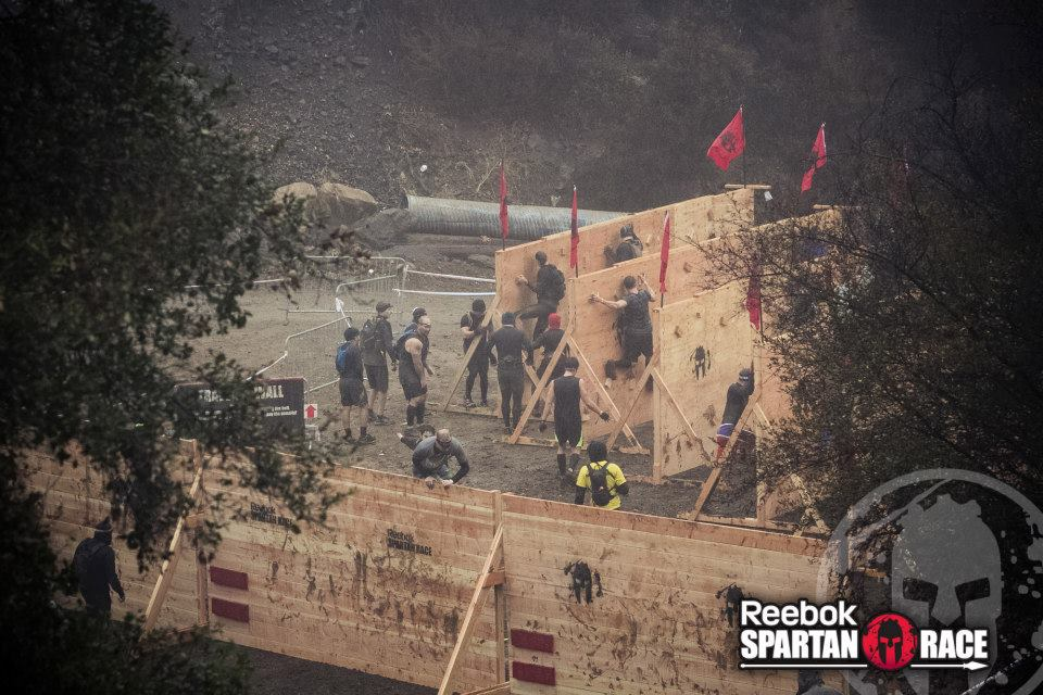 The walls of pain: 10-foot wall and the traverse wall.