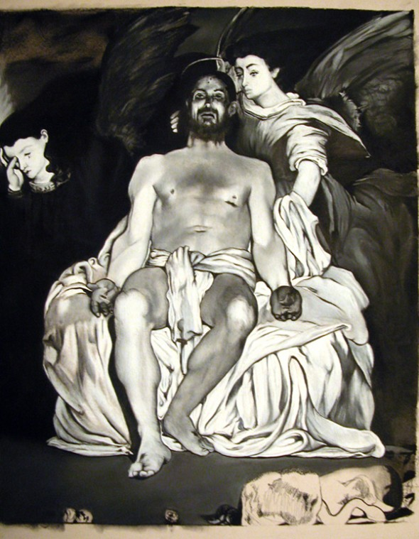 Transcription after Manet,  Dead Christ with Angels