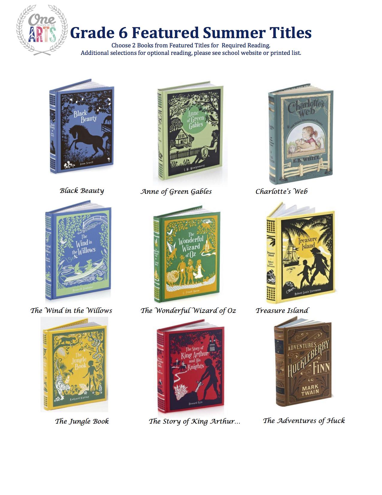 Grade 6 Featured Titles 2015.jpg