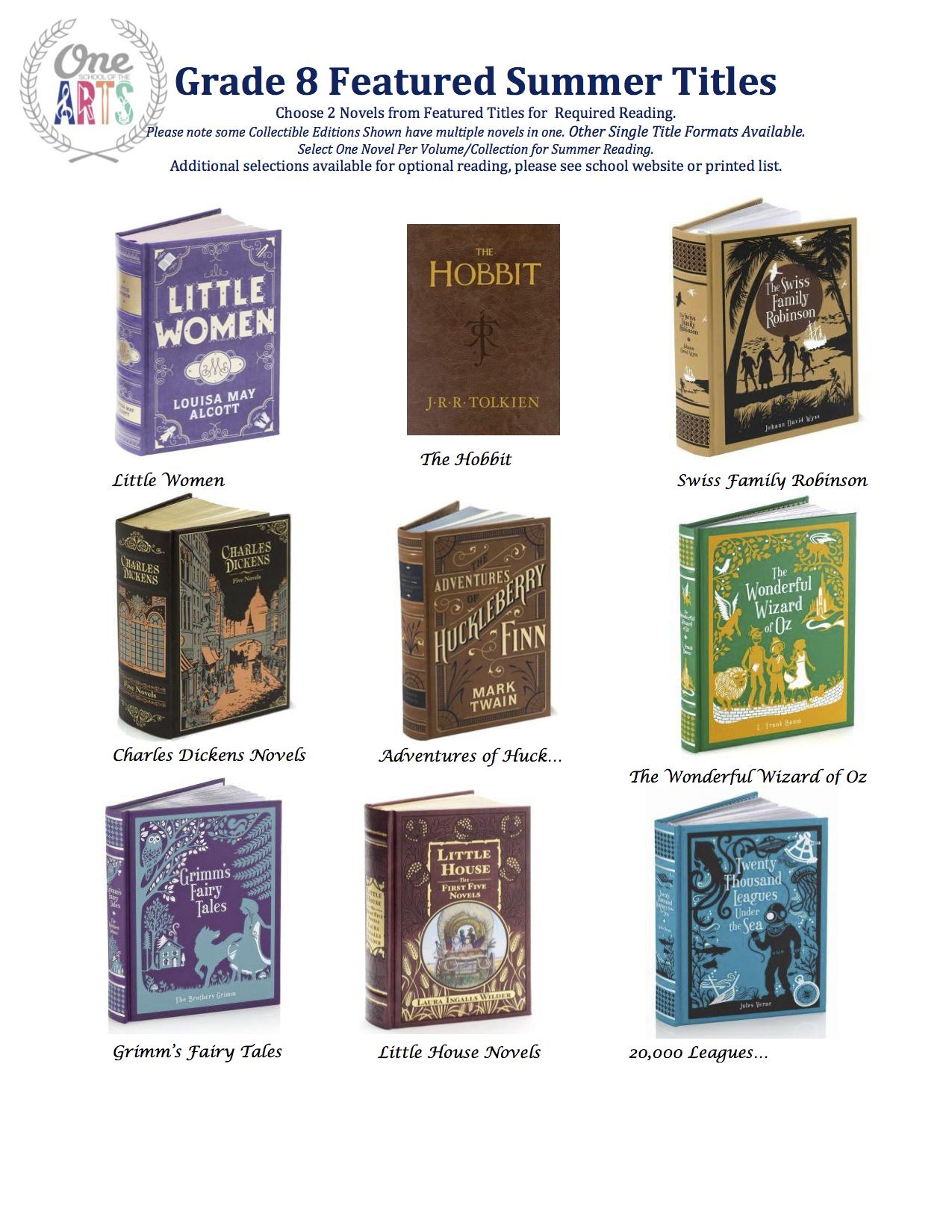Grade 8 Featured Titles 2015.jpeg