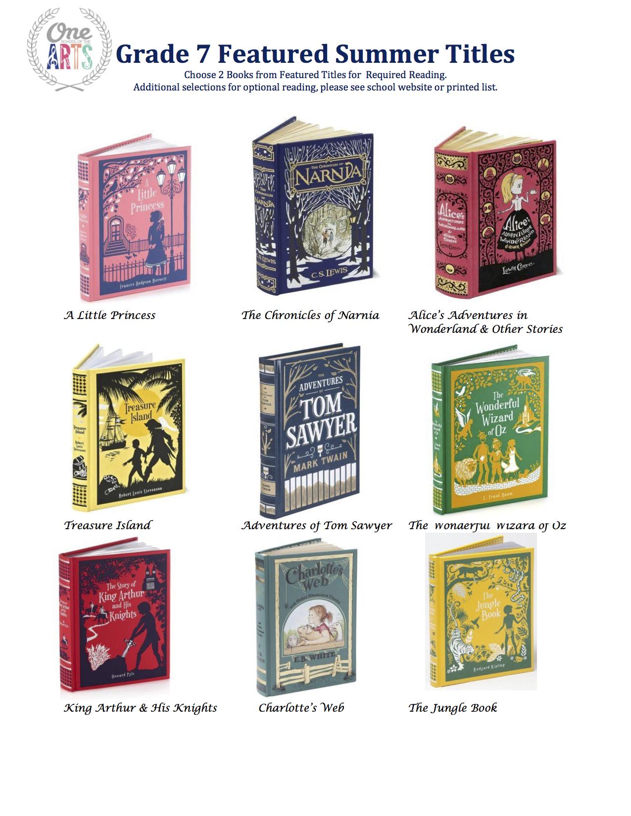 Grade 7 Featured Titles 2015.jpeg