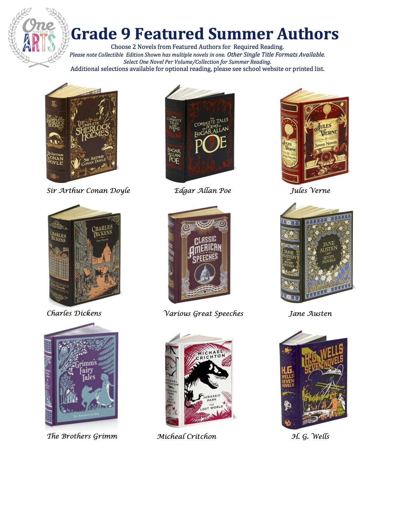 Grade 9 Featured Authors 2015.jpeg