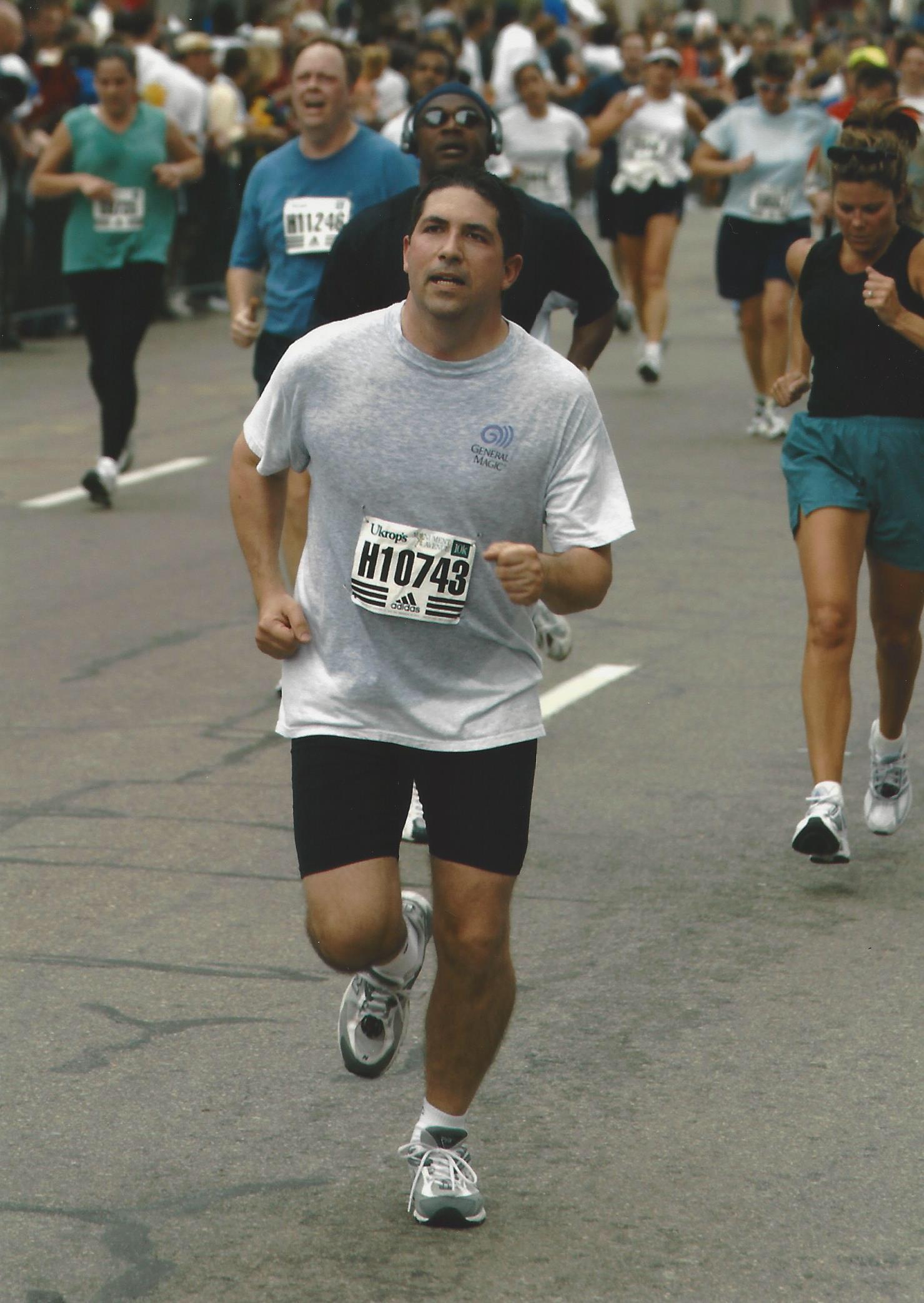 Garth runs the 10k in 2004