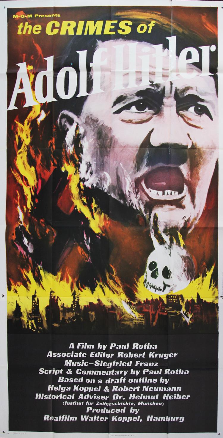 Crimes of Adolf Hitler - US 3 Sheet