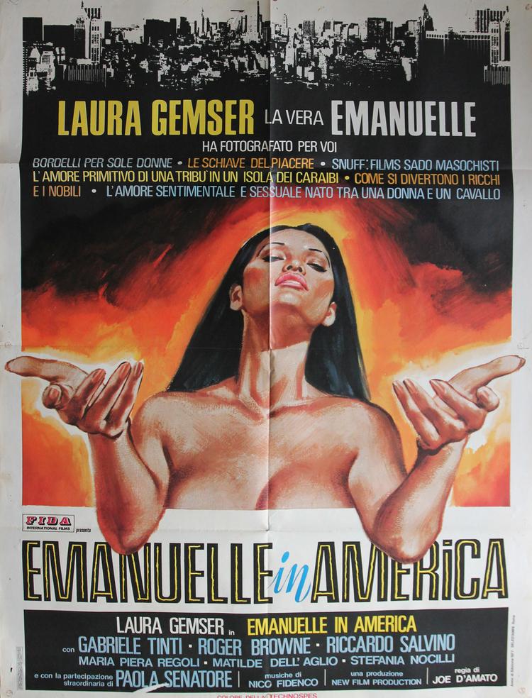 Emanuelle In America - Italian 2F Manifesto