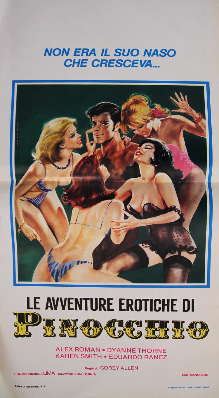 Erotic Adventures of Pinocchio - Italian Locandina
