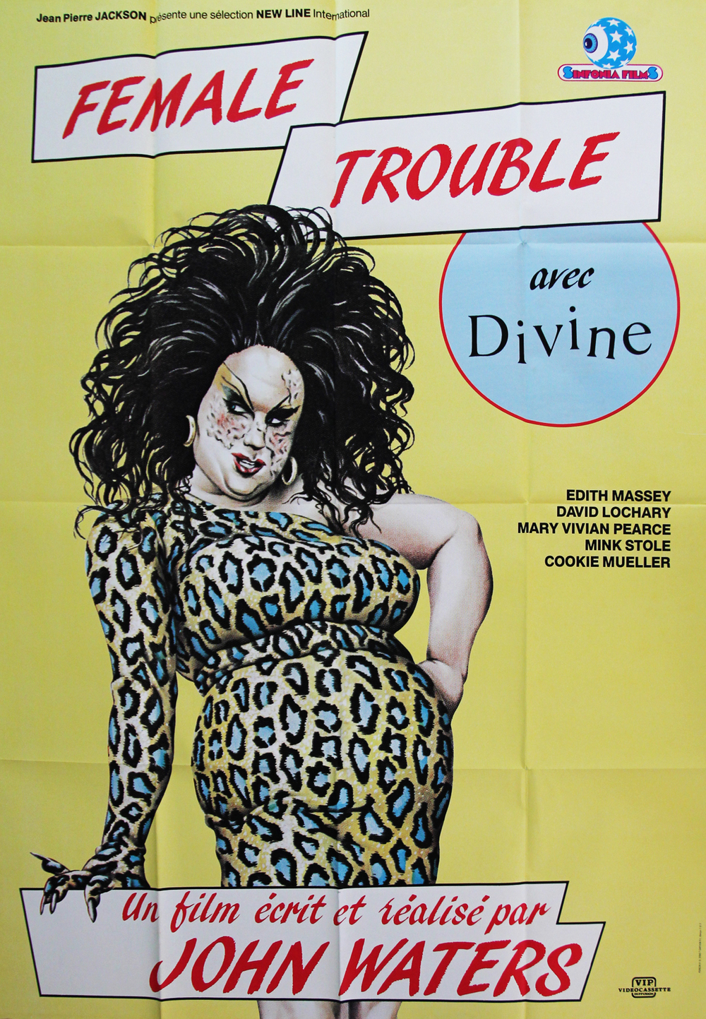 """Female Trouble - French Video/Theatrical 47x63"""""""