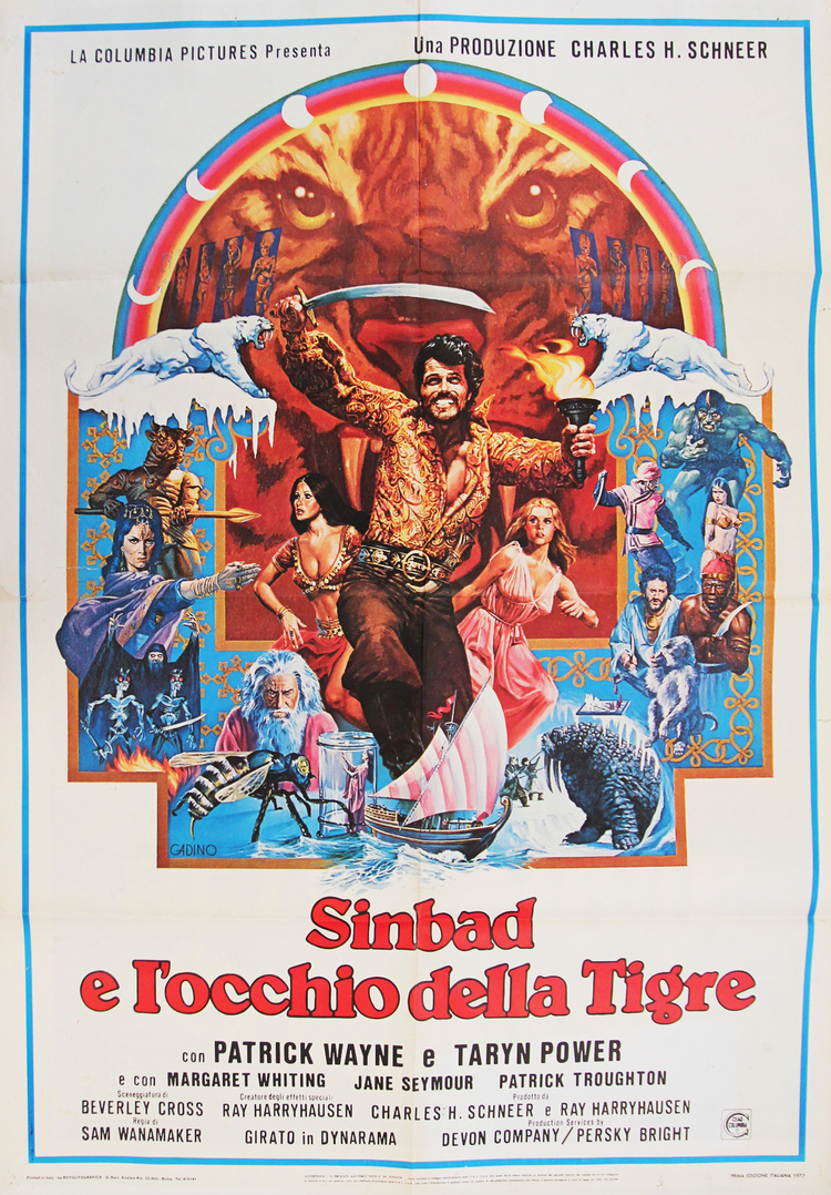 Sinbad & the Eye of the Tiger - Italian 2F Manifesto