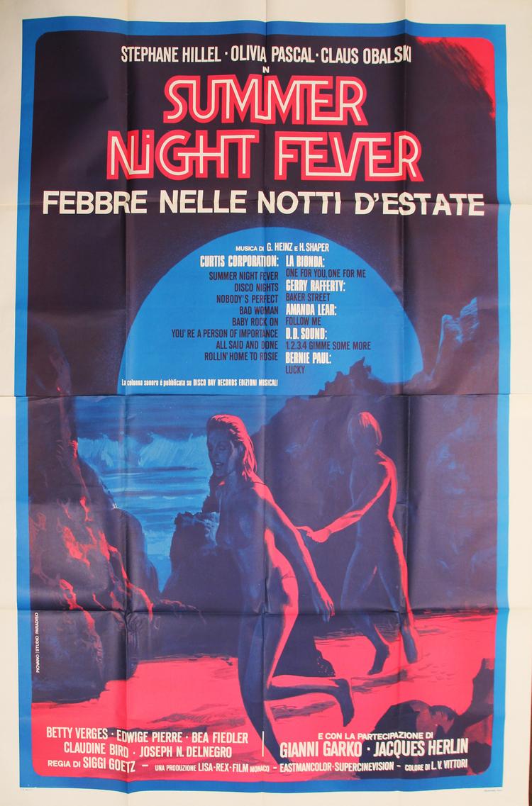 Summer Night Fever - Italian 4F Manifesto