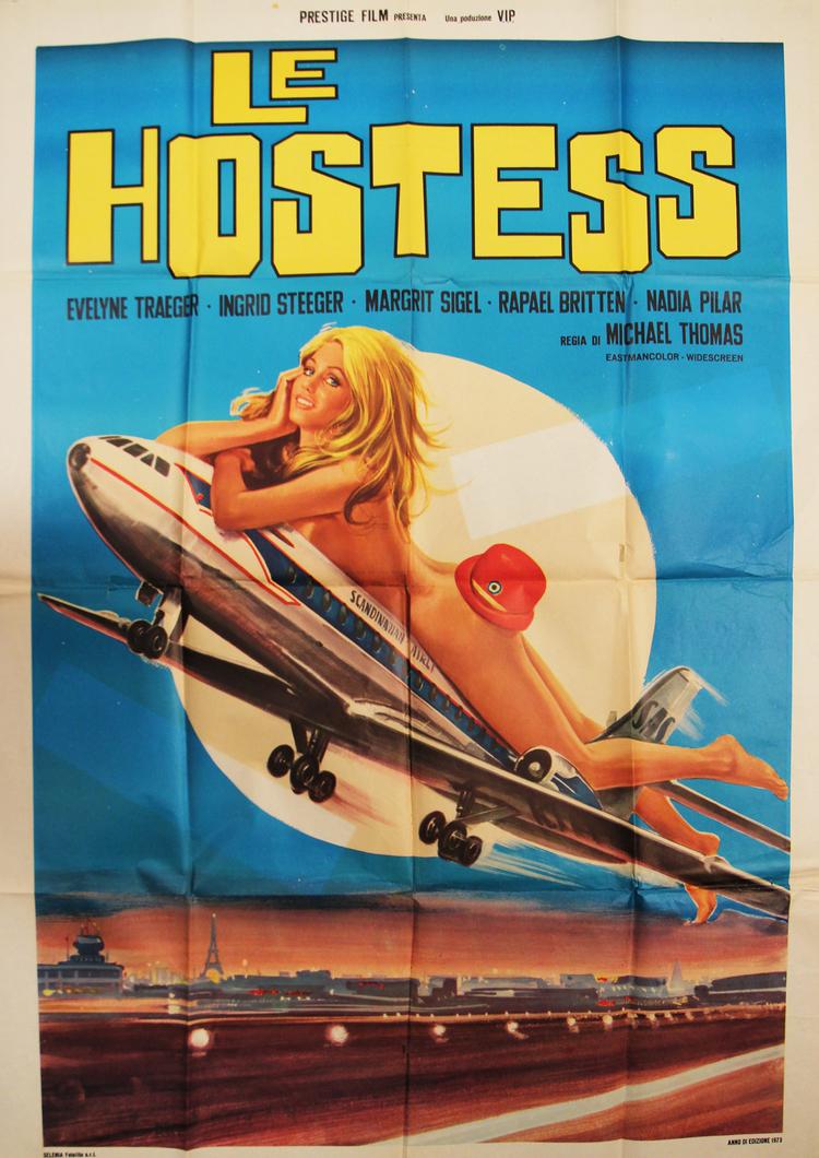 Swingin' Stewardesses - Italian 2F Manifesto