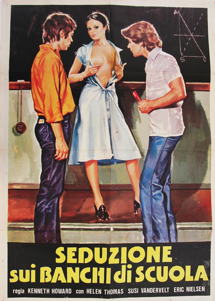 Seduction on School Desks - Italian 2F Manifesto