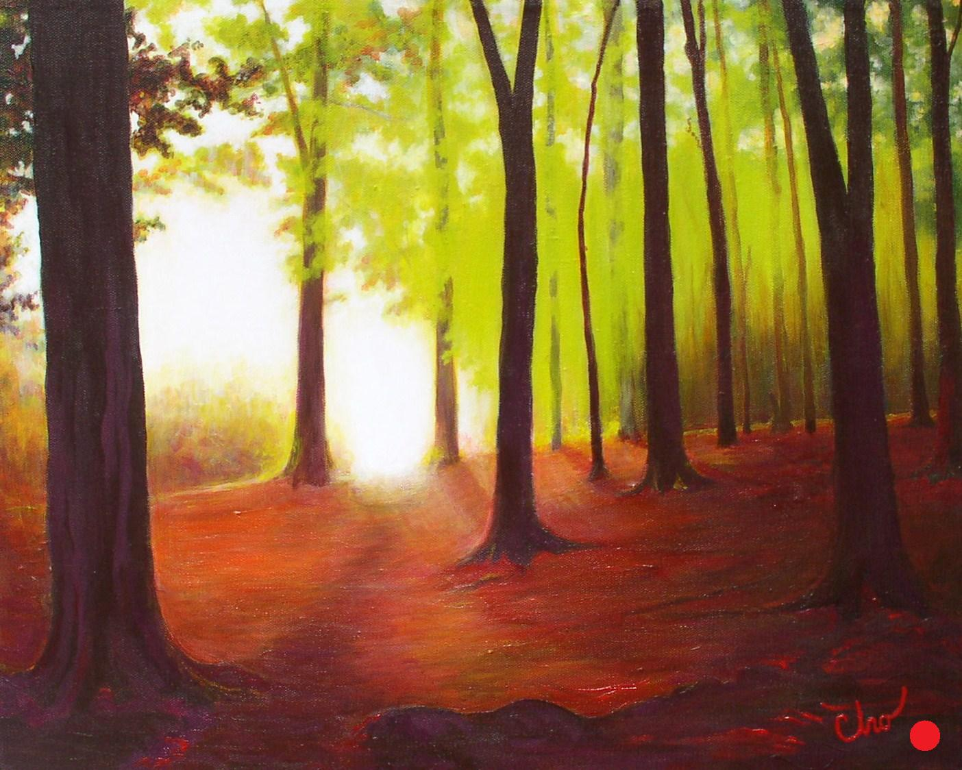 Morning in the Woods--16x20 Feb 2010