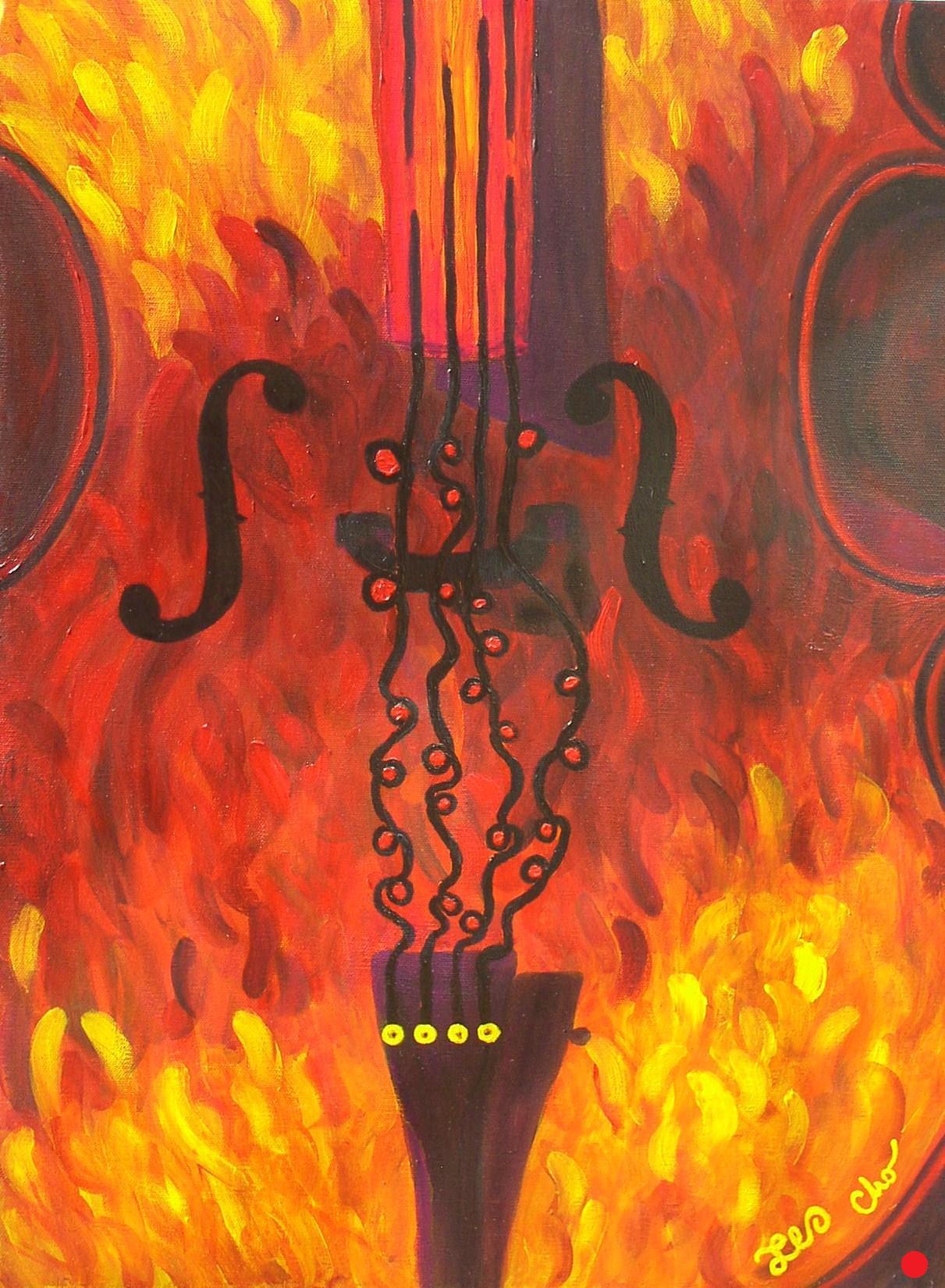 Talia's Cello 28x22 May 2010
