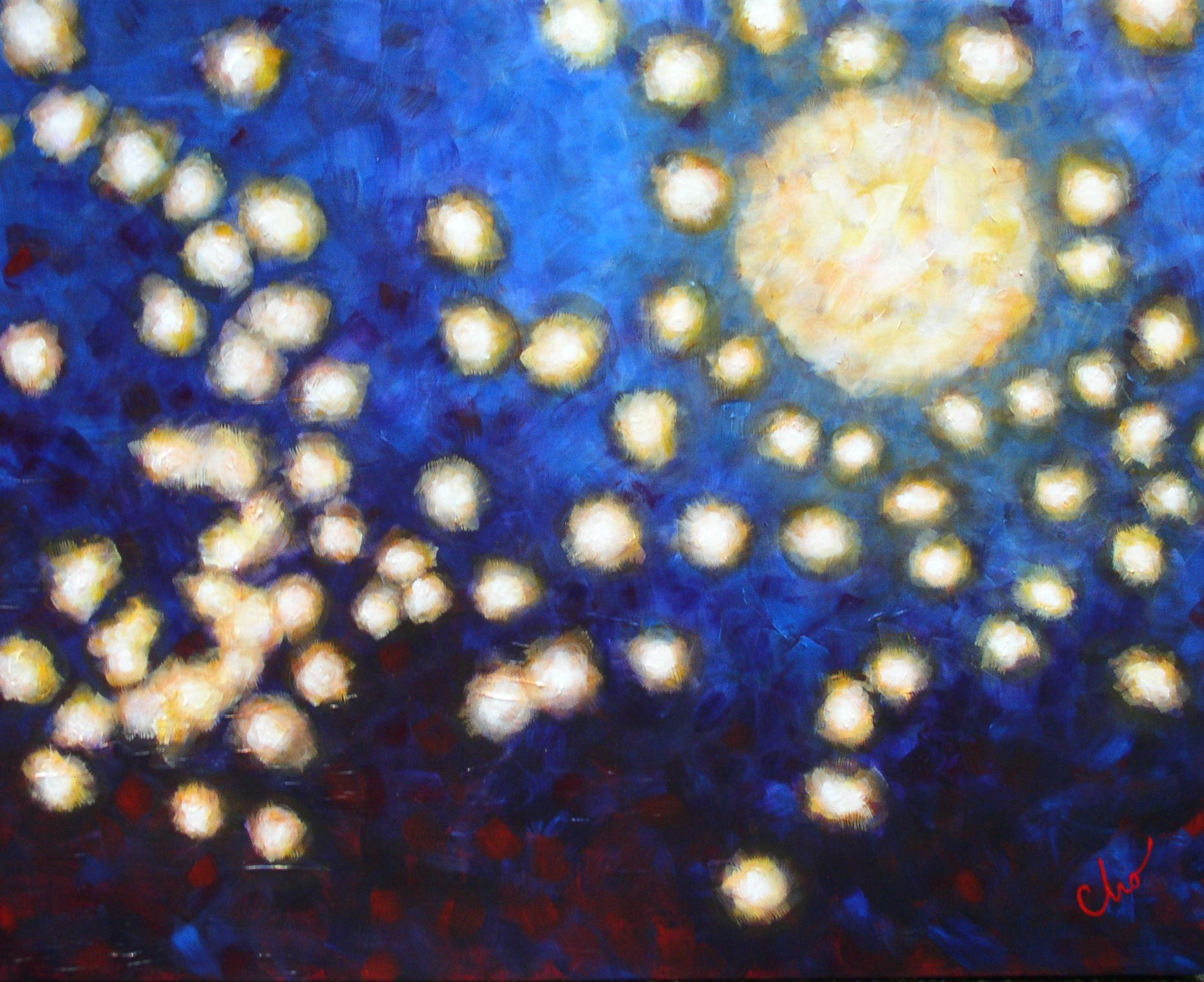 Pieces of Moonshine--24x30 Sept 2010
