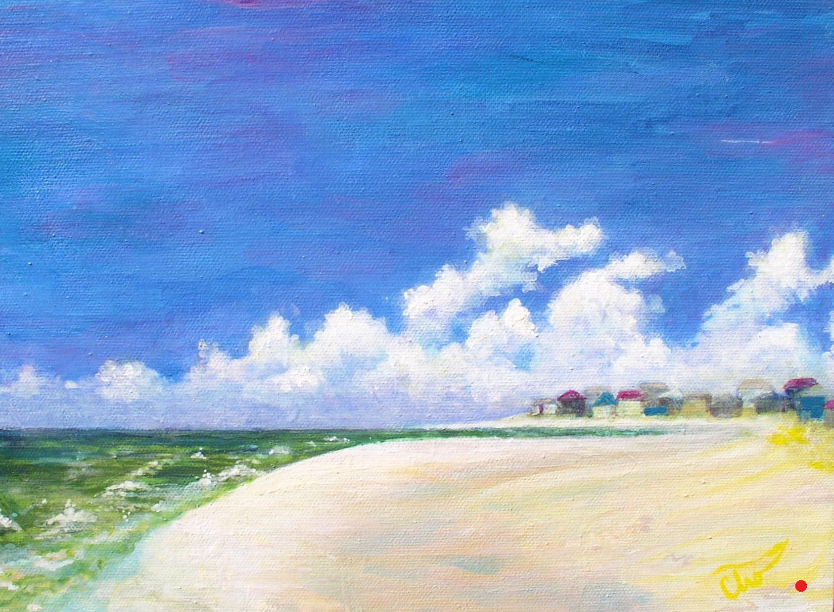 Little Houses by the Sea--9x12 May 2010