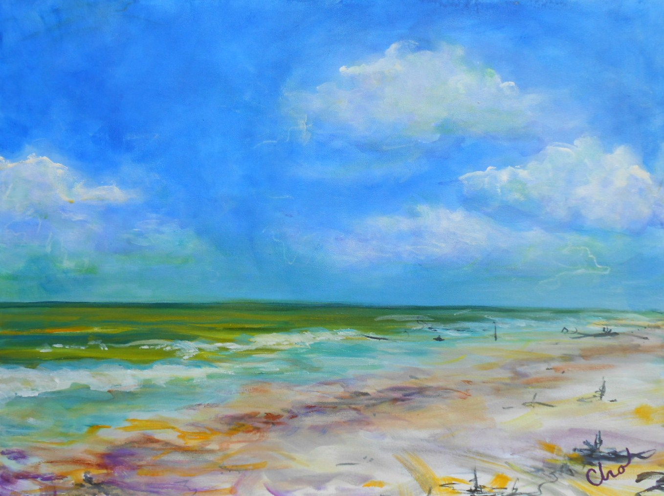 Summer Day at the Beach--June 2013 18x24