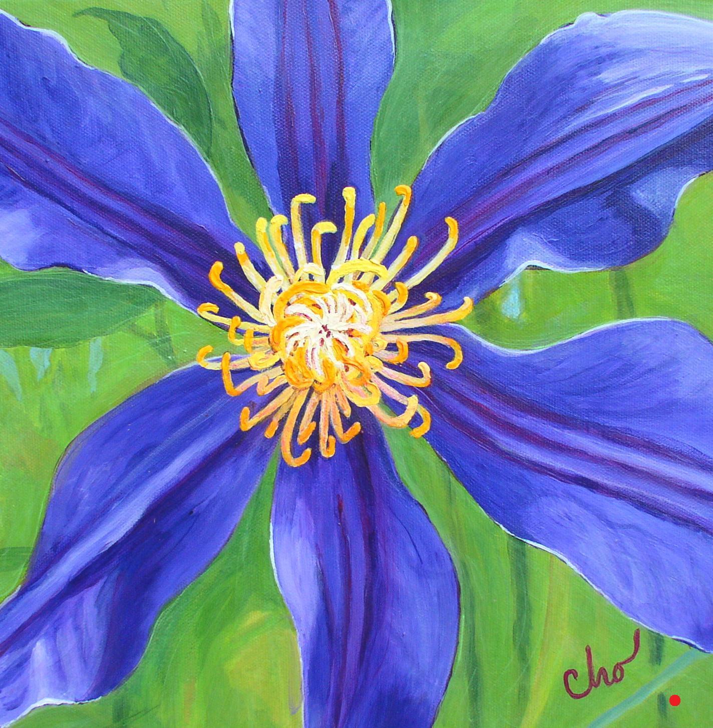Purple Clematis--12x12 June 2009
