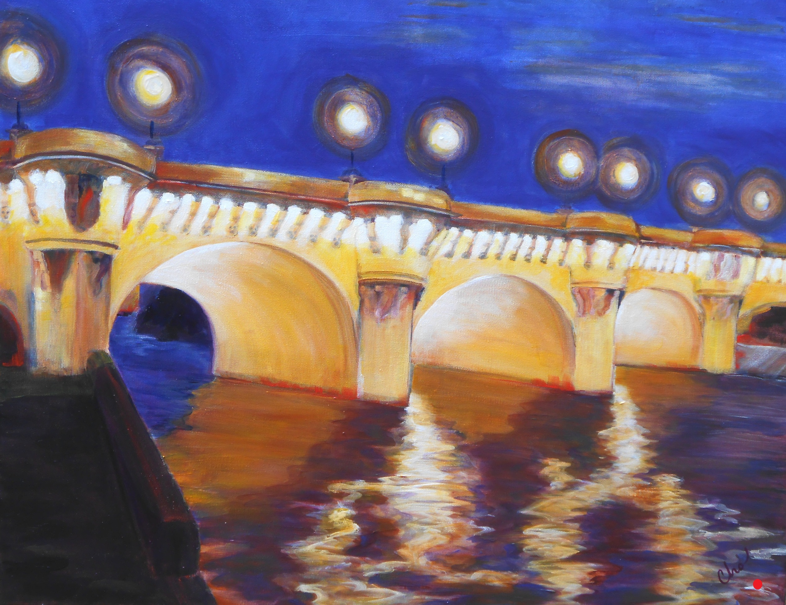 Le Pont Neuf for Eve--22x28 May 2012