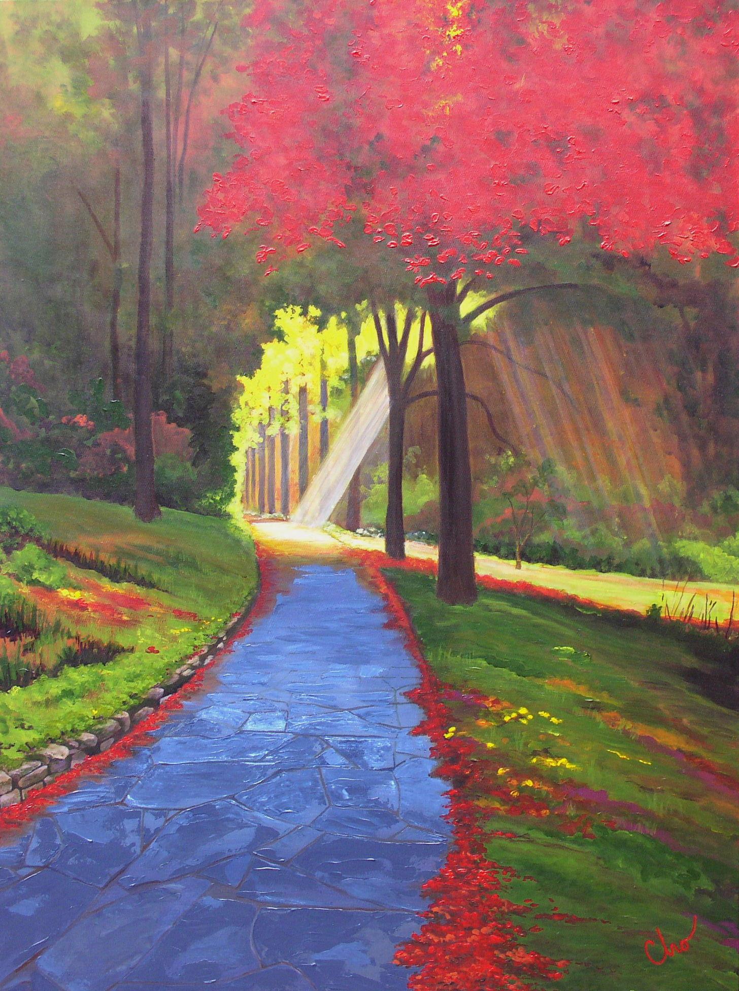 Illumination on the Path 30x40 July 2009