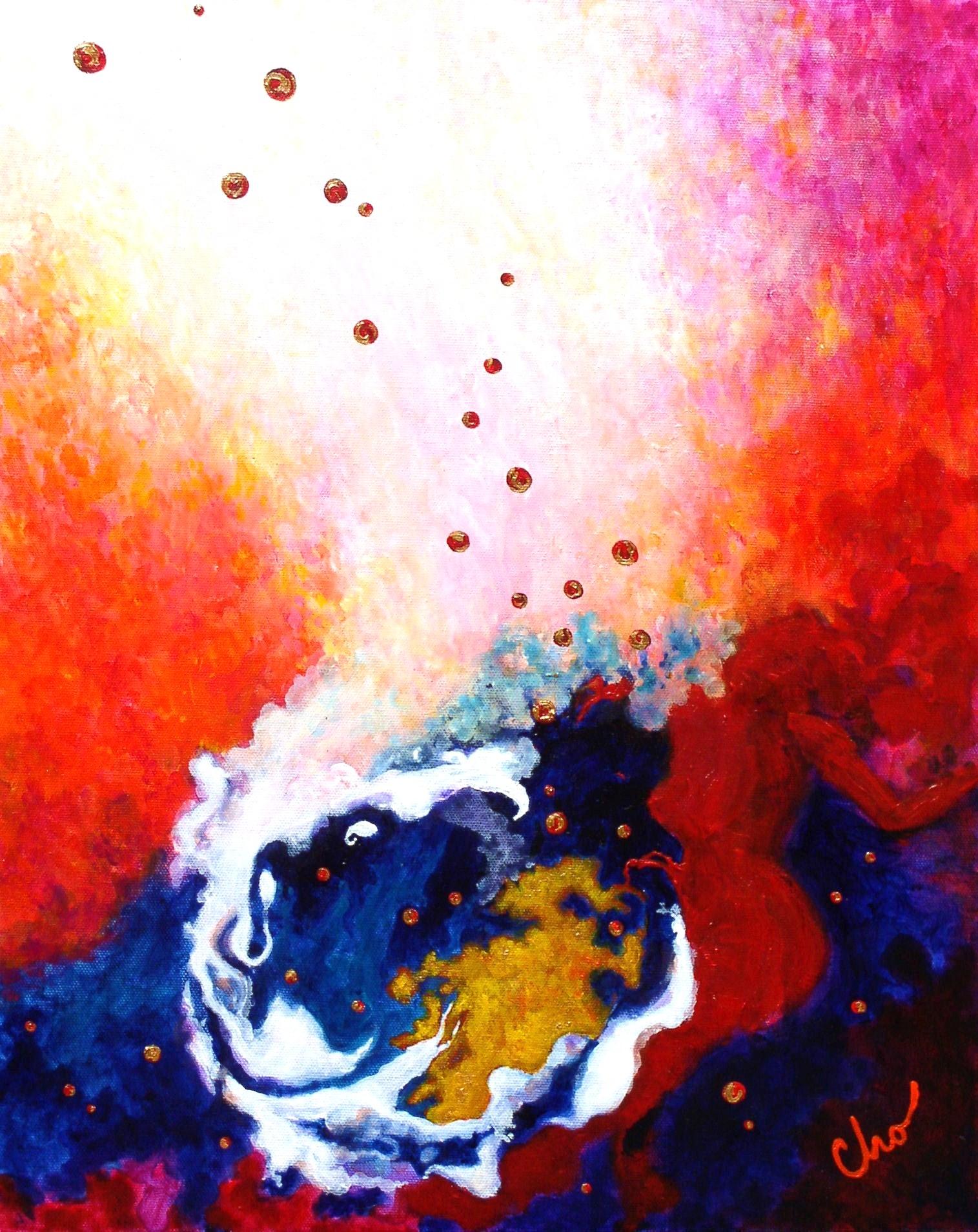 Cosmic Hot-tub--20x16 Ma 2010 aka Merging Strength