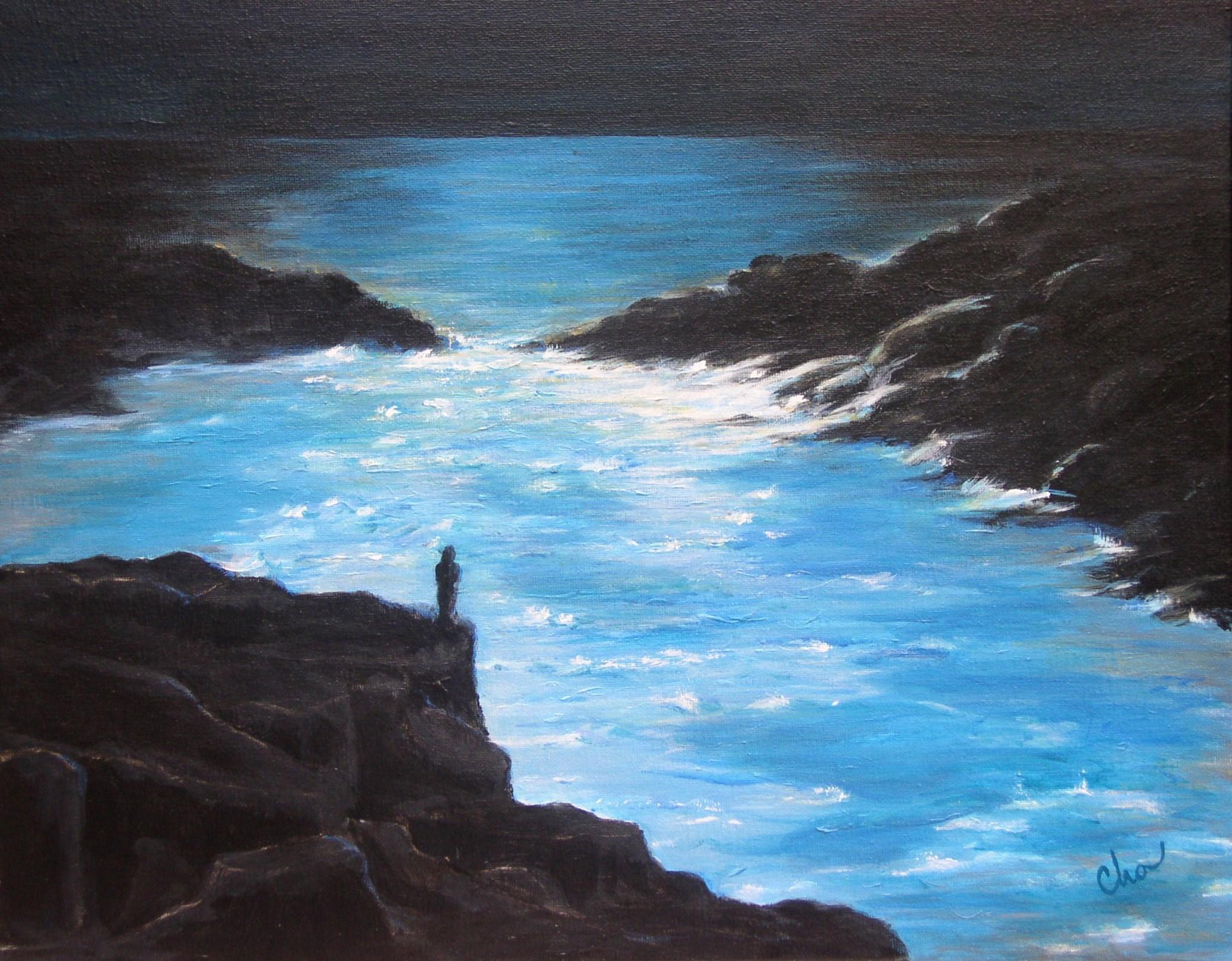 A Vivid Blue Abyss--16x20 August 2011-- $200