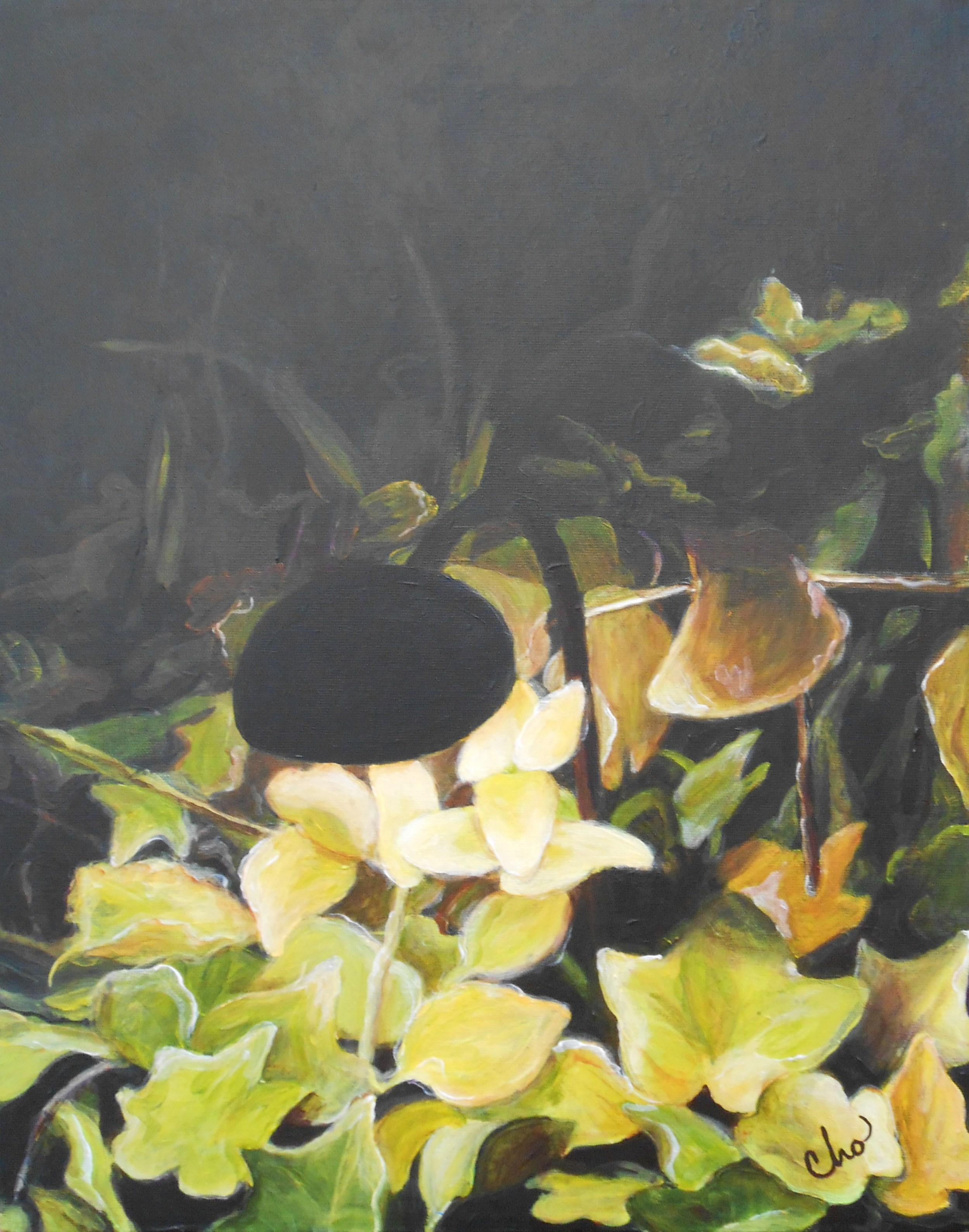 Light in a Dark Garden (No. 2)--April 2012 20x16-- $150